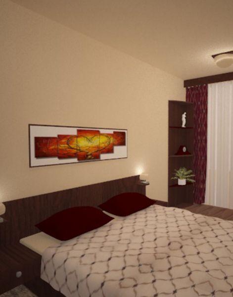 Спалня в бежаво-кафява гама