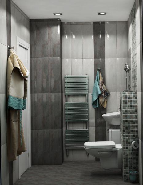 Просторна сивкаво-кафява баня