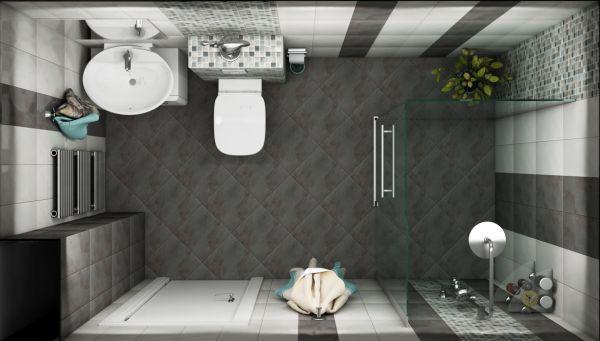 Просторна сивкаво-кафява баня, 4