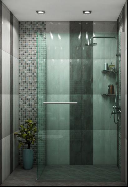 Просторна сивкаво-кафява баня, 5